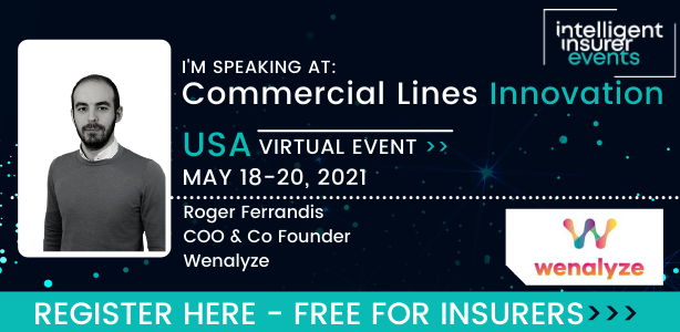 Roger Ferrandis Wenalyze at Commercial Lines Innovation USA Insurance Open Data Insurtech