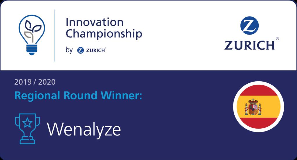 Wenalyze representará a EMEA en la Zurich Innovation Championship 2020